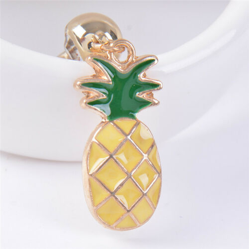 Crystals Rhinestone Pineapple Navel Belly Button Rings Bar Body Piercing Jewelry