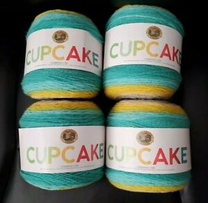 Lot-of-4-Lion-Brand-Yarn-Cupcake-Street-Lights-Acrylic-Fibers-590-YD-Skein