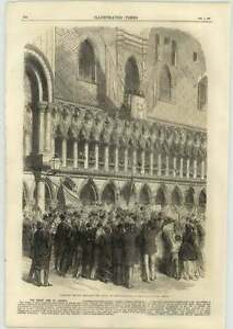 1866-Pres-Tecchio-Declaring-Result-Ducal-Palace-Venice