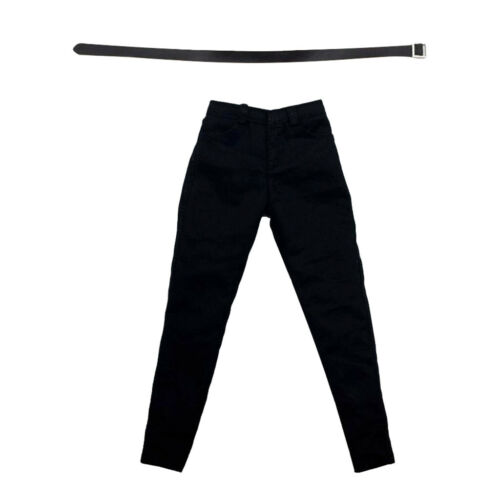 """1//6 Scale Black Pants with Belt Clothing for 12/"""" Male Figure Character Model"""