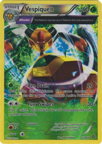 Reverse Holo NM-Mint Pokemon XY 11//98 1x Vespiquen Rare Ancient Origins