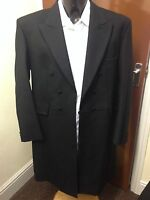 MENS BLACK FROCK COAT, PURE WOOL, VARIES SIZES AVAILABLE, WEDDING, SUIT (002)