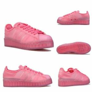 Women's adidas Superstar Jelly Lace up Regular Fit Casual Trainers in Pink
