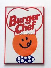 """Vintage BURGER CHEF  HAMBURGERS 2"""" x 3"""" Fridge MAGNET Art FAST FOOD"""