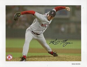 Mike Myers Autographed Boston Red Sox 8 1/2 x 11 Team Issued Photo
