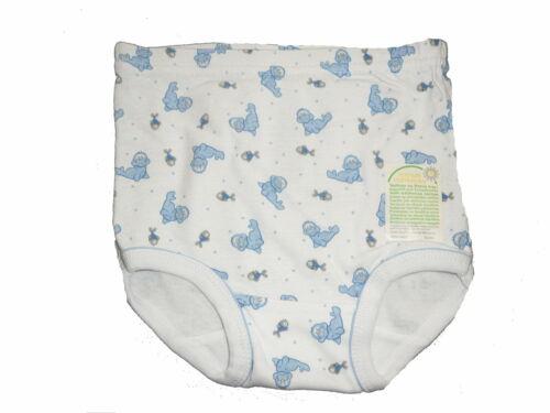 NEU Ergee toller Slip 98 Unterhose Gr 104 weiß mit blauen Seehund Motiven !