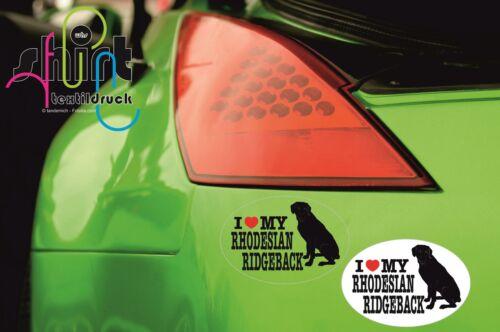 DA 92 I love my Rhodesian Ridgeback Hund Dog Aufkleber Autoaufkleber Sticker