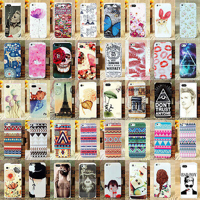 Paint Various Pattern Plastic Hard Back Skin Case Cover For Apple IPhone 4 4S