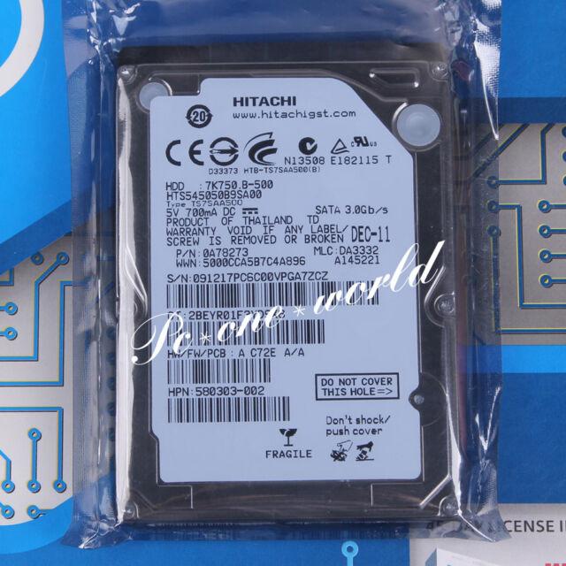 "100% OK HTS545050B9SA00 HITACHI 500 GB 2.5"" 5400 RPM 8 MB SATA Hard Disk HDD"