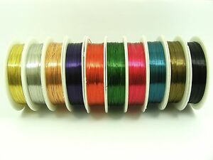 1-Spool-COPPER-Brass-0-3MM-Beading-WIRE-for-Craft-jewellery-Making-Choose-Color