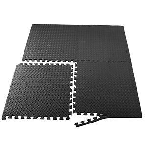 24sqft-Floor-Mat-Interlocking-Puzzle-Rubber-Foam-Gym-Fitness-Exercise-Tile-new-E