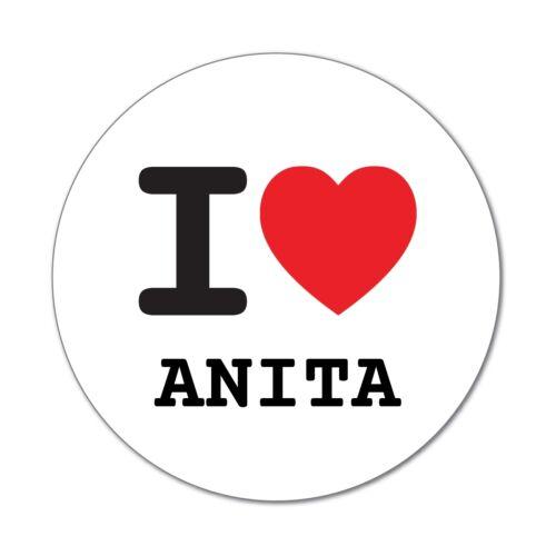 6cm I LOVE Anita-autocollant sticker décalque