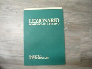 LEZIONARIO DOMENICALE E FESTIVO CONFERENZA EPISCOPALE ITALIANA 1982