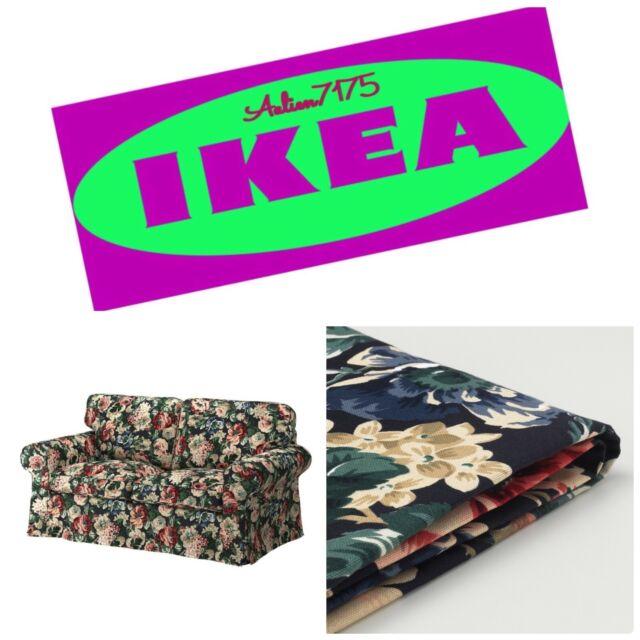 Ikea Ektorp Loveseat 2 Seat Sofa Slipcover Cover Lindbo Multicolor Floral New