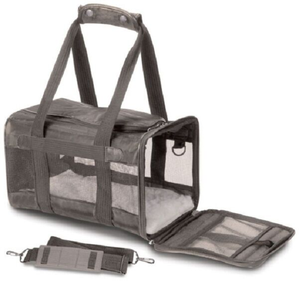 Sherpa ORIGINAL DELUXE PET DOG CAT CARRIER Airline Approved  Holds to 16 Lbs MED