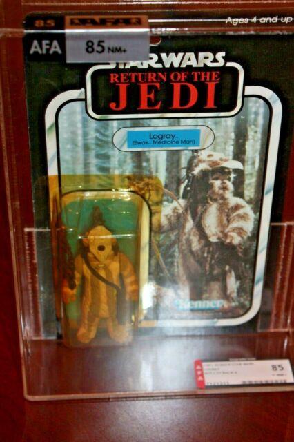 Vintage 1983 Kenner STAR WARS ROTJ LOGRAY AFA 85 Return Jedi 77 Back-A ewok