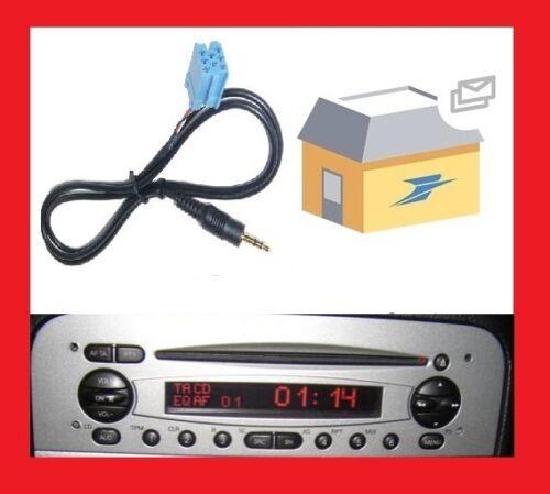 Cable adaptateur aux auxiliaire autoradio jack ALFA ROMEO 147 DE 2002 PHASE 1