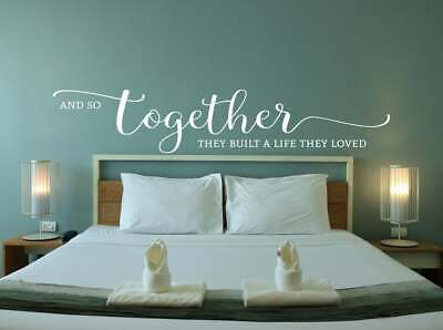 Vinyl Wall Art Decal And So Together They Built A Life They Loved By Ss Ebay