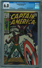 CAPTAIN AMERICA #117 CGC 6.0 1ST FALCON OFF-WHITE TO WHITE PAGES 1969