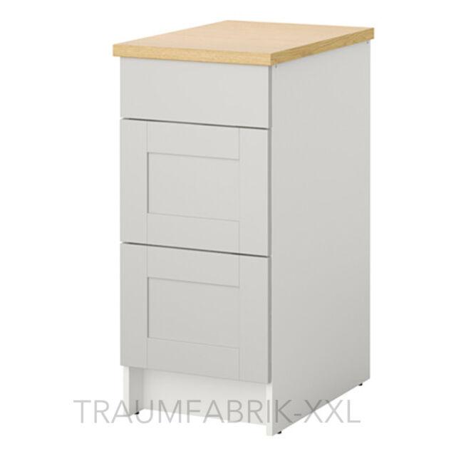 Cassettiera Per Armadio Ikea.Ikea Sottopensile Con Cassetti Kuchenunterschrank Cucine Armadio Grigio 40x61x90