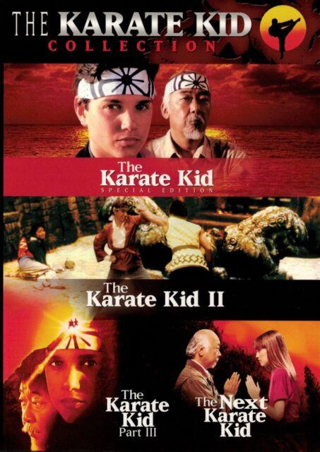 The Karate Kid Collection Box Set - 4 movies (DVD 3 disc) Ralph Macchio NEW
