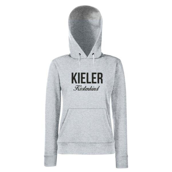 Damen Hoodie Kieler Küstenkind Kapuzenpullover Kiel Küste Meer See XS-L