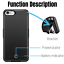 thumbnail 2 - 8000mAh Battery Charger Case Power Bank Cover For iPhone 6 6s 7 8 Plus SE Black