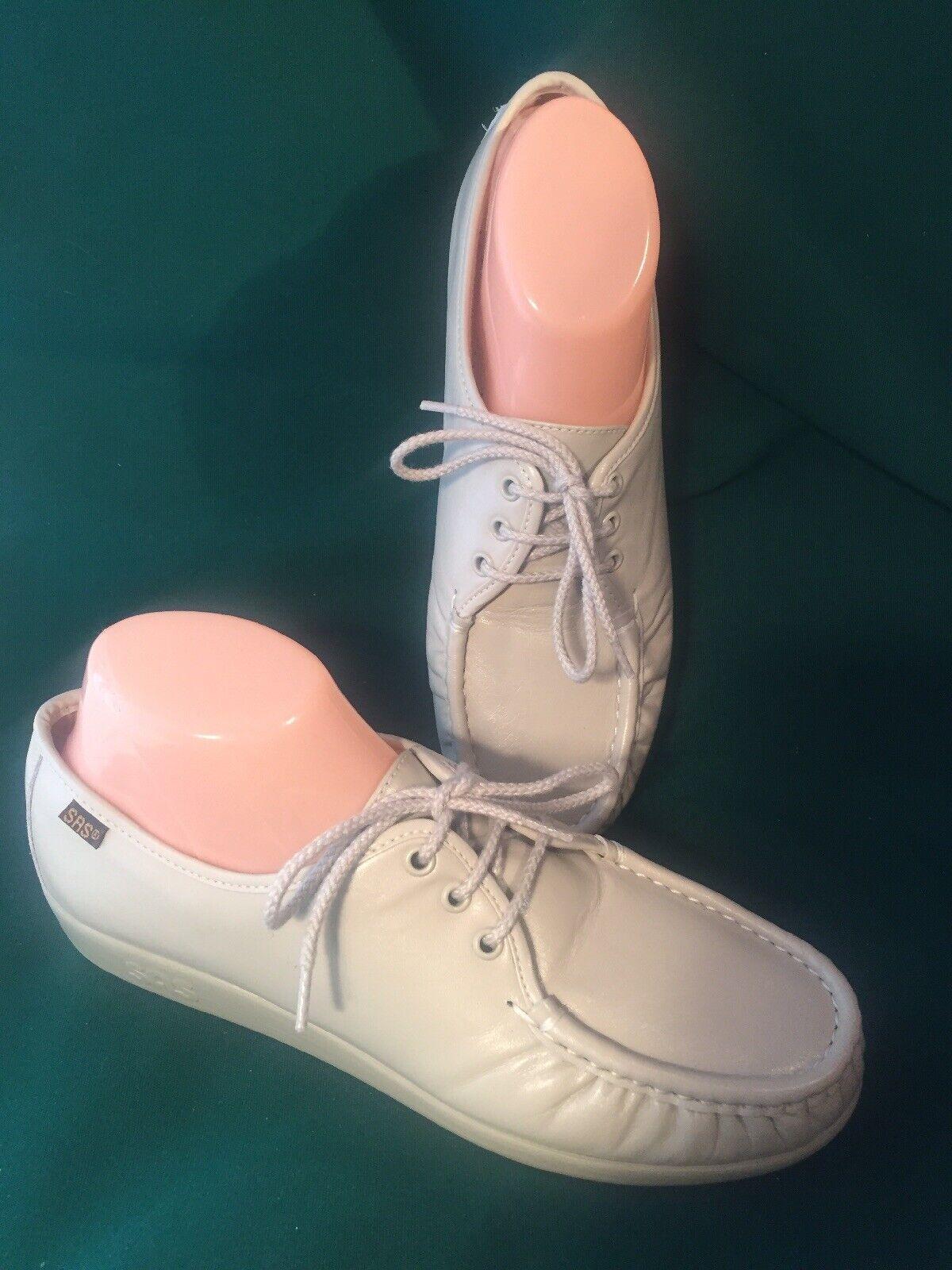 SAS 9.5 M bone tie shoes free time walkers comfort support excellent