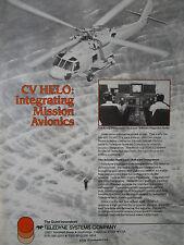 5/1989 PUB TELEDYNE SIKORSKY SEAHAWK SH-60F CV HELO ASW AVIONICS INTEGRATION AD