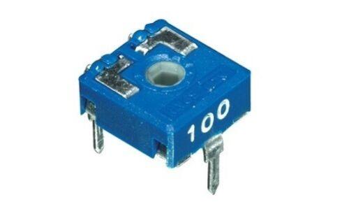 4pz trimmer 10x10 22 KOhm orizzontale regolazione con perno cod AB//082220