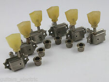 Aged KLUSON 3 a-side MACHINE HEADS NICKEL No Logo Single Ring TUNERS SD90SLN NL