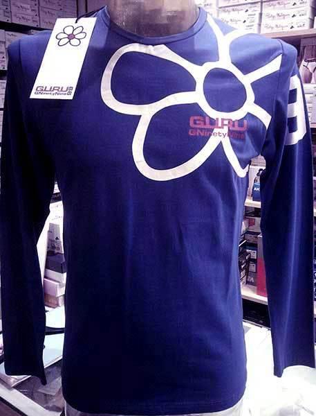 Jersey T-shirt man Guru long sleeve printed front retro and logo art G99055
