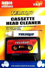 Audio Cassette Tape Head Cleaner with Cleaning Solution