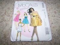 Mccalls Sewing Pattern 5850 Womens Lined Party Dresses Size 4-10 Uncut