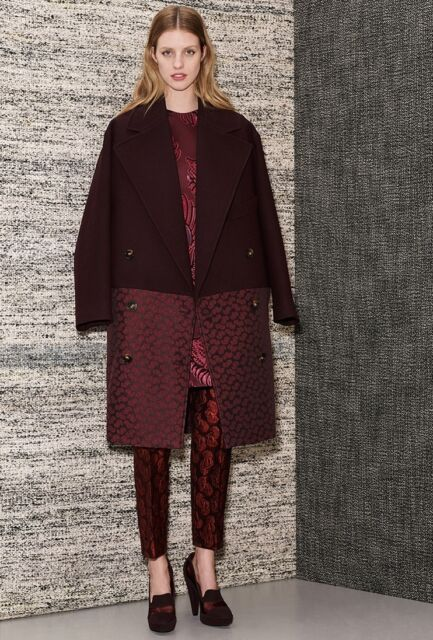 Stella McCartney Pre-Fall 2013 Burgundy Coat Size 36