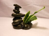 Fish Tank Decorations Spa Stones With Plant