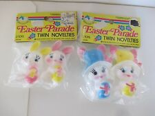 VINTAGE EASTER PARADE PLASTIC BUNNY NOVELTIES HONG KONG DECORATION