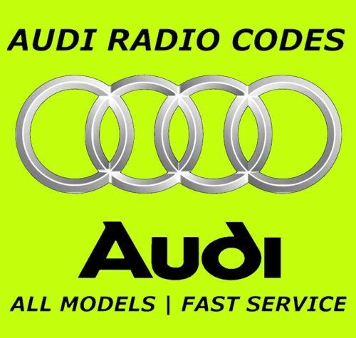 Código PIN Decodificar Desbloqueo De Radio Audi A3 A4 Tt Sinfonía RNS-E RNSE Concierto Cd