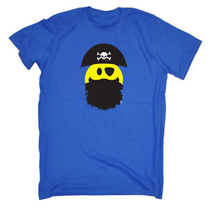 Funny-Novelty-T-Shirt-Mens-tee-TShirt-Pirate-Smile