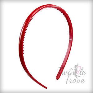 CLEARANCE Pack of 2 Girl/'s Thin Acrylic Plastic Alice Headband Hairband 8mm wide