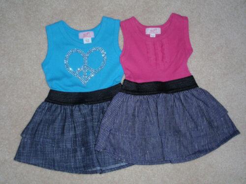 NWT GIRLS SOFI PINK /& BLUE DRESS SIZE 6-12 MONTHS