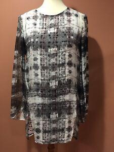 Theyskens-Theory-Silk-Tunic-Dress-Top-Size-S-READ