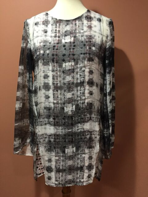 "Theyskens Theory Silk Tunic Dress Top Size S""READ """