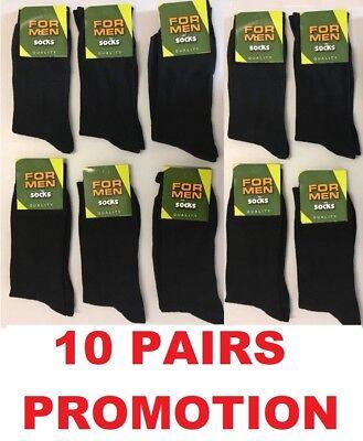 *6 PAIRS MEN/'S BLACK SOCKS COTTON RICH FORMAL SOCKS EVERYDAY  size UK  6-11 NDRM