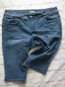 Sheego-Women-039-s-Jeans-Capri-Pants-Trousers-Size-54-Blue-New-904