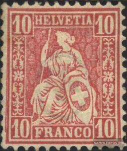 Schweiz-30-gestempelt-1867-sitzende-Helvetia