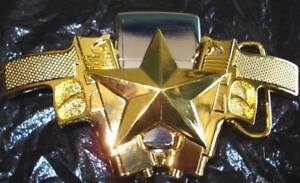 2301e57413f4 Boucle Ceinture - Guns Star - Briquet tempête modèle GOLD   eBay