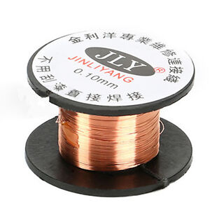 1roll magnet wire awg gauge 115m enameled copper coil winding 01mm image is loading 1roll magnet wire awg gauge 11 5m enameled greentooth Image collections