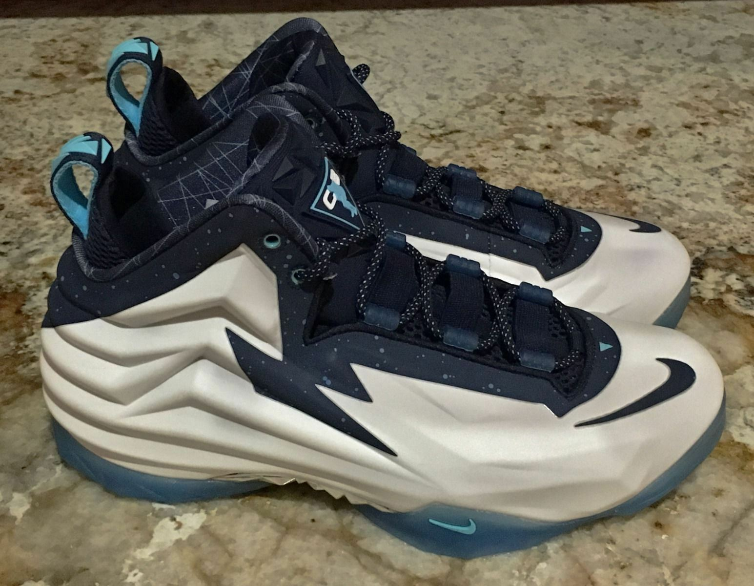 NIKE Chuck Posite White Navy bluee Basketball shoes Sneakers Mens 6.5 7 8.5 9 10