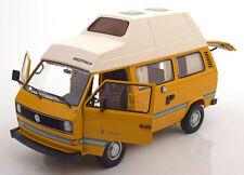 Schuco Volkswagen T3 Joker Camper with high roof Yellow 1/18 Scale New Release!